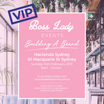 EVENT ONE 2019 - Building a Brand (VIP)