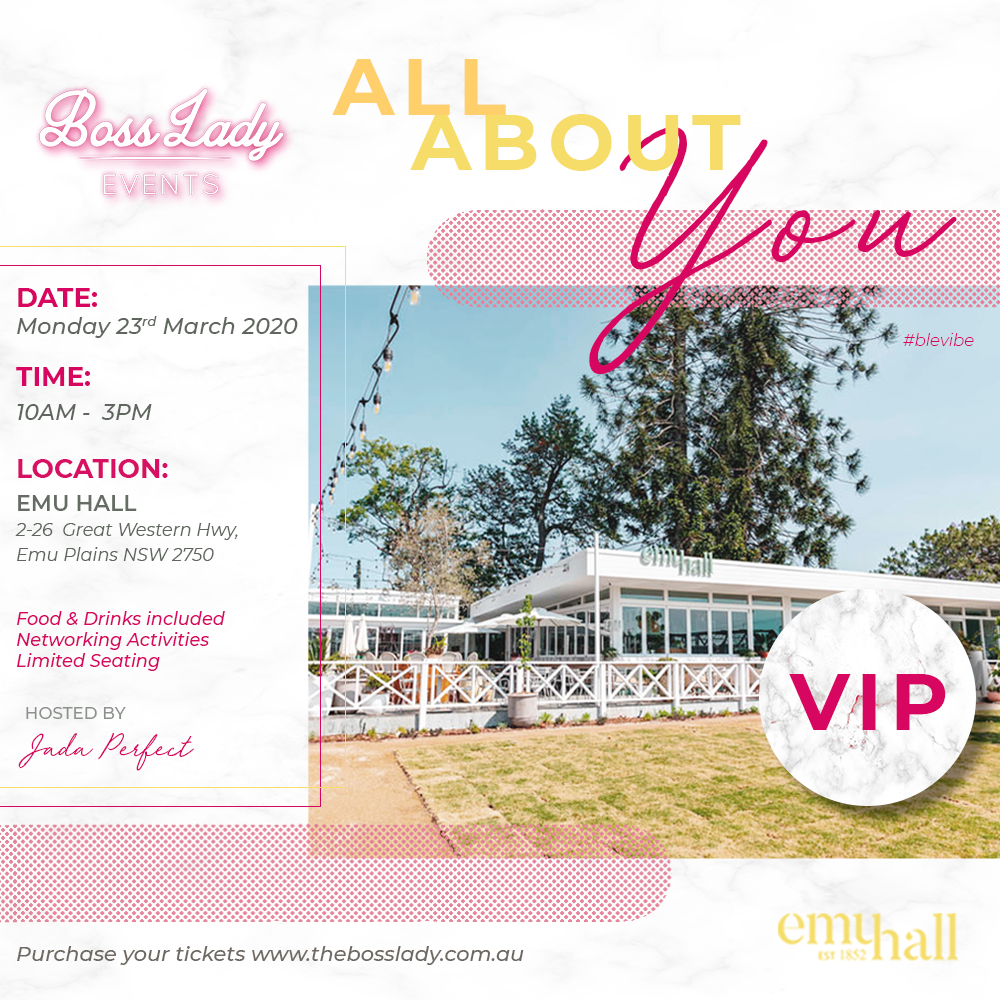 EVENT ONE- 2020 All About You: VIP