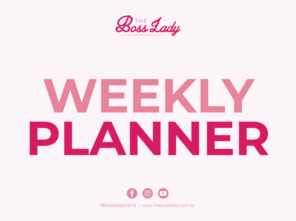 Weekly Planner - Free Download