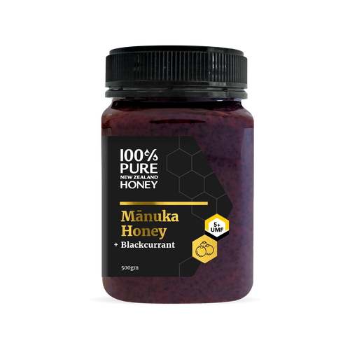 UMF 5+ Manuka Honey with Blackcurrant 500g
