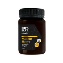 Load image into Gallery viewer, UMF 5+ Manuka Honey with Lemon & Ginger 500g