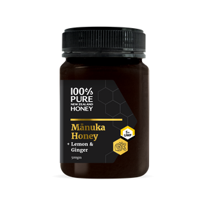 UMF 5+ Manuka Honey with Lemon & Ginger 500g