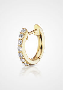 Traditional Espionne, 14K Yellow Gold + Diamond Pavé Hoops, 8mm