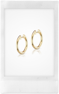 Traditional Espionne, 14K Yellow Gold, 13mm Hoops