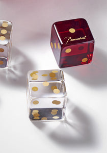DICE SET RED/CLEAR