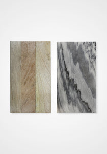 Gray Marble + Wood Reversible Board, Large