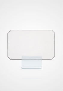 Silver Beveled Edge Place Cards
