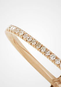 The X, 18K Rose Gold + Pale Champagne Pavé Diamond Ring