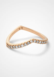 The Sergeant, 18K Rose Gold + Pale Champagne Diamond Ring