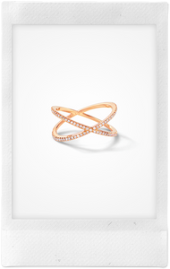 The Fine Shorty, 18K Rose Gold + Pale Champagne Pavé Diamond Ring