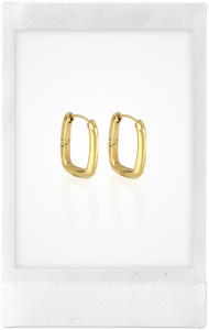 Toy, Gold-Plated Hoop Earrings, Large