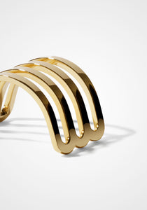 Étreintes Four Row, 18K Yellow Gold Polished Half Ring