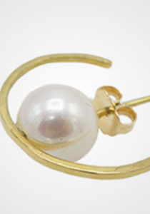 the-conservatory-nyc - ORBIT EAR CUFF SINGLE GOLD- WHITE PEARL, MEDIUM - KATEY WALKER - JEWELRY
