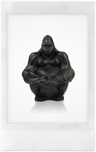 the-conservatory-nyc - GORILLA SCULPTURE, BLACK - LALIQUE - LIVING