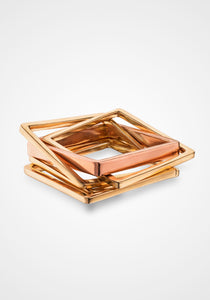 Five Band, 14K Yellow + Rose Gold Puzzle Ring