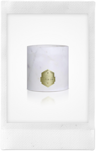 Santal White Beaute Marbre Candle, 32oz