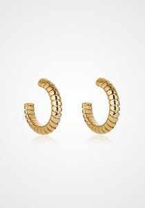 Trisolina Hoop, 18K Yellow Gold Earrings, Small