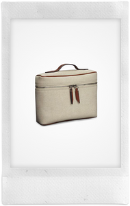 One Day Linen Toiletries Pouch