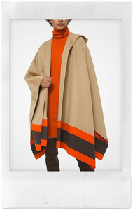 Hooded Cape With Border