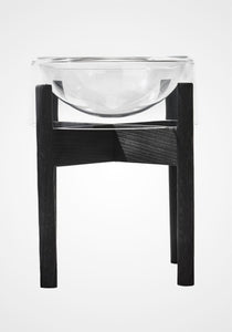 Charred Oak Dog Bowl Stand, Large