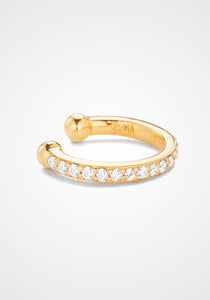 Single Line, 18K Yellow Gold + Diamond Pavé Ear Cuff