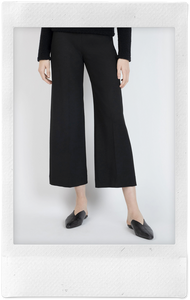 Pull-On Cropped Straight Pant