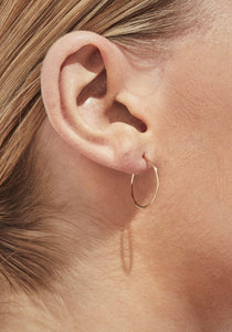 Twist 02, Yellow Gold Earring