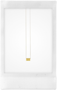 Cube, 18K Yellow Gold Necklace