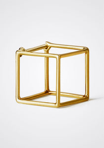 the-conservatory-nyc - 3D MEDIUM SQUARE EARRING, SINGLE - SHIHARA - JEWELRY