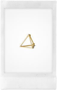 the-conservatory-nyc - 3D MEDIUM TRIANGLE EARRING, SINGLE - SHIHARA - JEWELRY