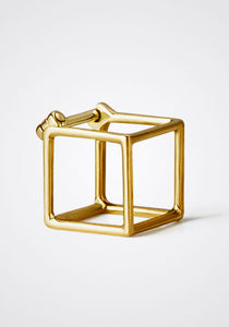 the-conservatory-nyc - 3D SMALL SQUARE EARRING, SINGLE - SHIHARA - JEWELRY