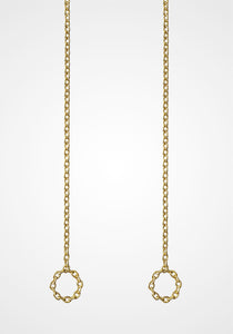 Chain 05, 18K Yellow Gold Earrings