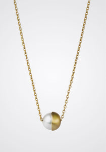 the-conservatory-nyc - HALF PEARL NECKLACE - SHIHARA - JEWELRY