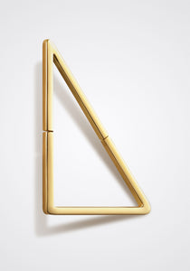 the-conservatory-nyc - LARGE FLAT TRIANGLE FORM EARRING, SINGLE - SHIHARA - JEWELRY