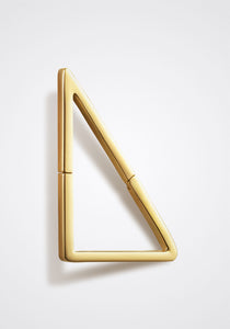 the-conservatory-nyc - MEDIUM FLAT TRIANGLE FORM EARRING, SINGLE - SHIHARA - JEWELRY