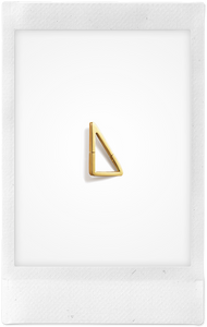 the-conservatory-nyc - SMALL FLAT TRIANGLE FORM EARRING, SINGLE - SHIHARA - JEWELRY