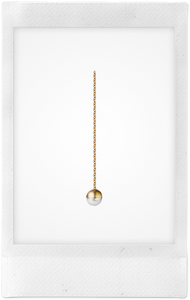 the-conservatory-nyc - TOP HALF PEARL CHAIN EARRING - SHIHARA - JEWELRY