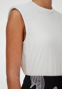 Padded Shoulder Sleeveless Top