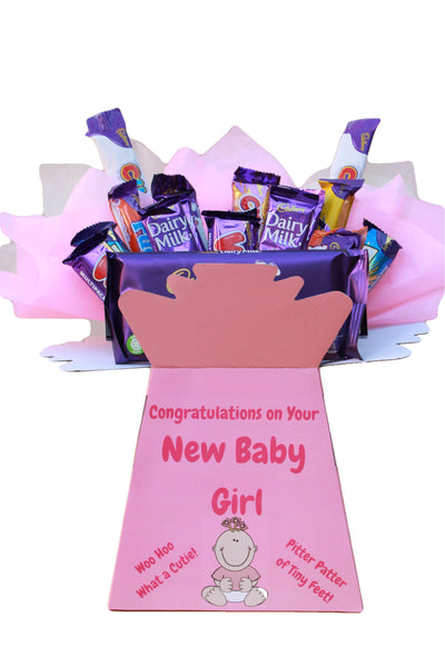 New Baby Girl Gift For a New Mum - Personalised Chocolate