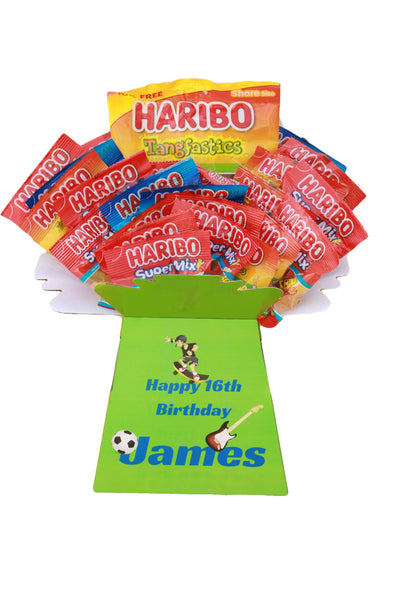 Personalised Haribo Sweets Gift - Personalise with names, messages, photos