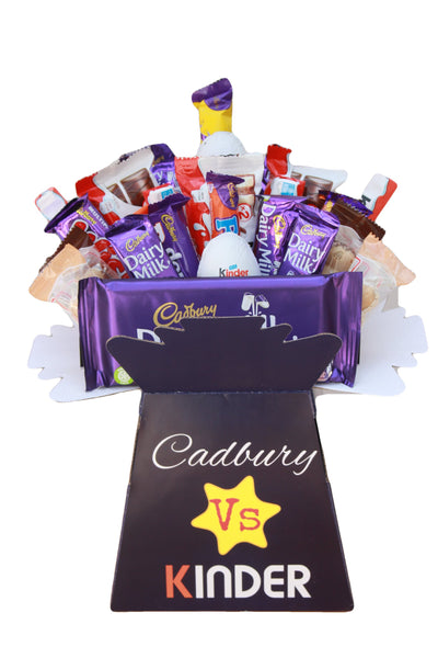 Cadbury Vs Kinder Chocolate Hamper Gift