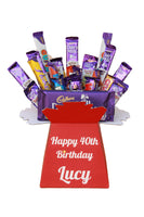 Personalised Cadbury Chocolate Bouquet - Personalise with names, messages, photos