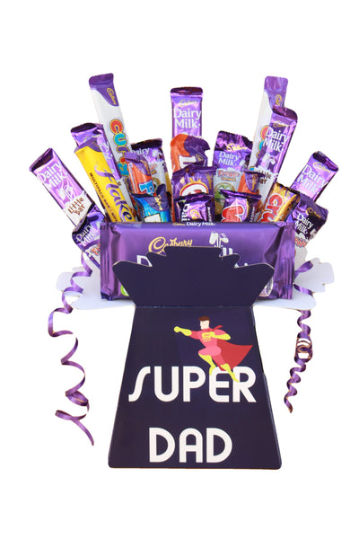 Dad's Personalised Chocolate Hamper - Personalise with names, messages, photos