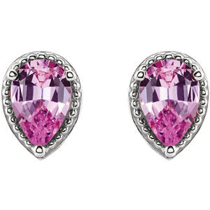Pink Sapphire Earring