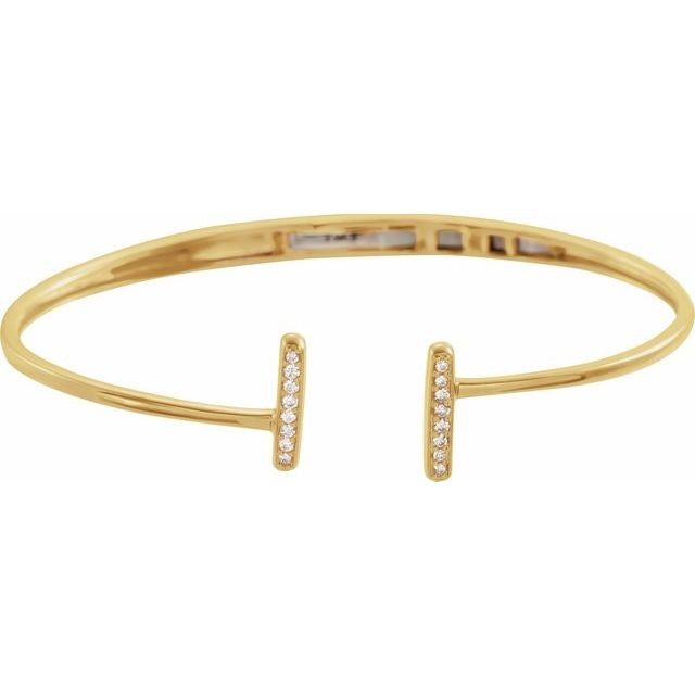 Diamond Bar Cuff Bracelet