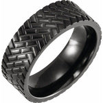 Black Titanium Tread Band