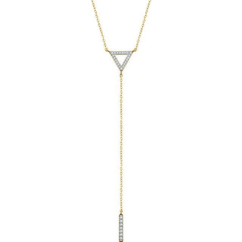 Triangle & Bar Lariat Necklace
