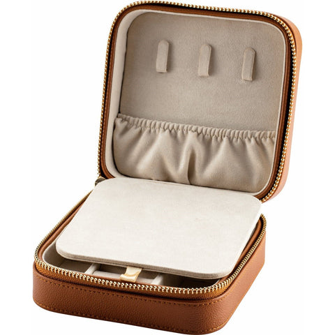 Leatherette Jewelry Case with Mirror