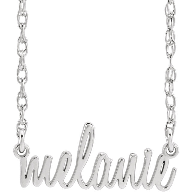 Script Name Necklace II