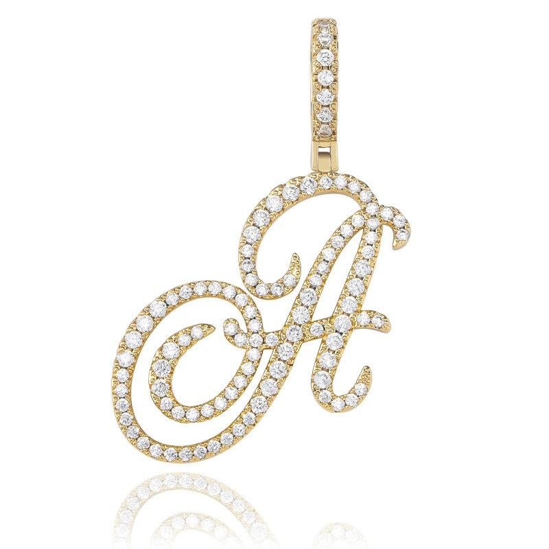 Custom Cursive Initial Letter Necklace